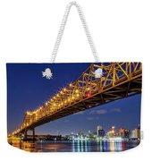 Crescent City Bridge, New Orleans, Version 2 Weekender Tote Bag