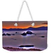 Crescent Moon Above Tahoe Weekender Tote Bag