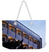 Crescent Moon Over The Boardwalk Plaza Hotel Weekender Tote Bag