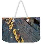 Crest Of Sandstone Wave At Sunset In Valley Of Fire Weekender Tote Bag