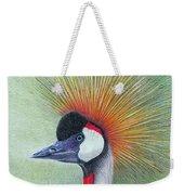 Crested Crane Weekender Tote Bag by Phyllis Howard