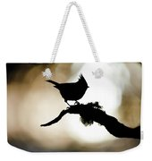 Crested Tit Silhouette Weekender Tote Bag