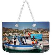 Crete Fishing Boats Weekender Tote Bag
