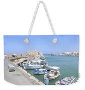 Crete Island Harbour  Weekender Tote Bag