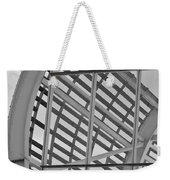 Cricket Stadium Architecture Black And White Weekender Tote Bag