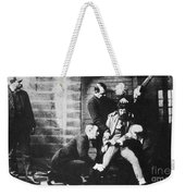 Criminal Being Held Down For Mug Shot Weekender Tote Bag by Photo Researchers