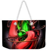 Crimson Affection Abstract Weekender Tote Bag