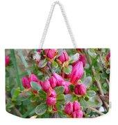 Crimson Azalea Buds Weekender Tote Bag