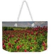 Crimson Clover Patch Weekender Tote Bag
