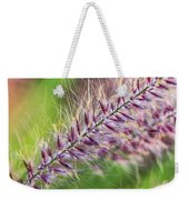Crimson Fountaingrass Abstract Weekender Tote Bag