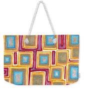 Crimson Gold And Squares  Weekender Tote Bag