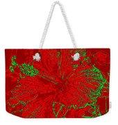 Crimson Hibiscus Weekender Tote Bag