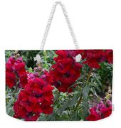 Crimson Snapdragons Weekender Tote Bag