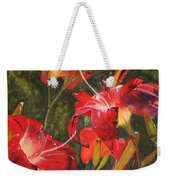 Crimson Light Weekender Tote Bag