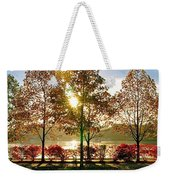 Crisp Autumn Day Weekender Tote Bag