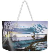 Crisp Winter Light Weekender Tote Bag