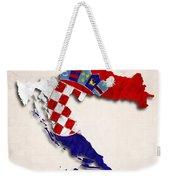 Croatia Map Art With Flag Design Weekender Tote Bag