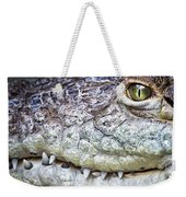 Crocodile Eye Weekender Tote Bag