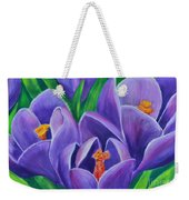 Crocus Flowers Weekender Tote Bag