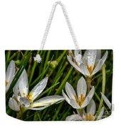 Crocus White Flowers Weekender Tote Bag