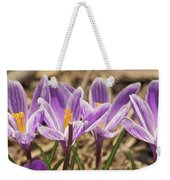Crocuses 2 Weekender Tote Bag