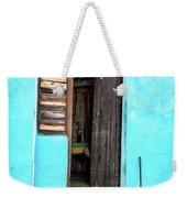 Crooked Blue Weekender Tote Bag