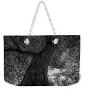 Crooked Oak Black And White Weekender Tote Bag
