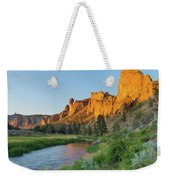 Crooked River And Monkey Face At Smith Rock Weekender Tote Bag