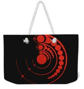 Crop Circle Formation Near Avebury Stone Circle In Wiltshire England In Red Weekender Tote Bag