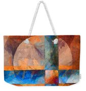 Cross And Circle Abstract Weekender Tote Bag