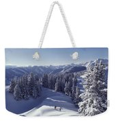 Cross-country Skiing In Aspen, Colorado Weekender Tote Bag