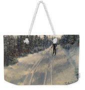 Cross Country Skiing  Weekender Tote Bag