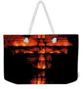 Cross On Fire Weekender Tote Bag