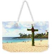 Cross In The Sand Weekender Tote Bag