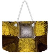 Cross Shaped Nave Ceiling With Pillars And Stained Glass Windows Weekender Tote Bag