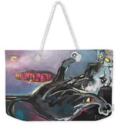 Crossed Eyed Cat Weekender Tote Bag