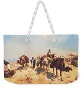 Crossing The Desert Weekender Tote Bag by Jean Leon Gerome