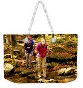 People Series - Crossing The Stream Weekender Tote Bag