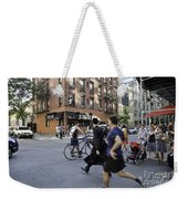 Crossing The Street In Dumbo Weekender Tote Bag