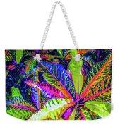 Croton Foliage Weekender Tote Bag