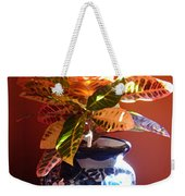 Croton In Talavera Pot Weekender Tote Bag