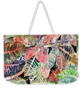 Croton Tropical Art Print Weekender Tote Bag