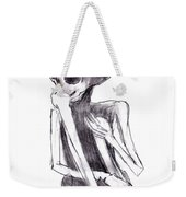 Crouched Skeleton Weekender Tote Bag