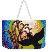 Crow And Full Moon In Winter Weekender Tote Bag