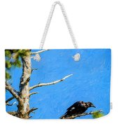 Crow In An Old Tree Weekender Tote Bag