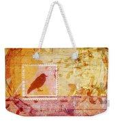 Crow In Orange And Pink Weekender Tote Bag