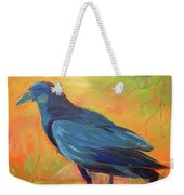 Crow In The Grass 7 Weekender Tote Bag