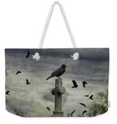 Crow Keeps Her Perch Weekender Tote Bag
