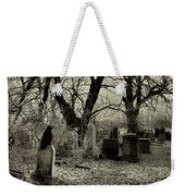 Crow Waits On Tombstone Weekender Tote Bag