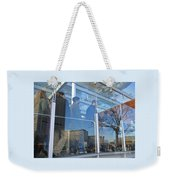 Crowd Queuing Up Weekender Tote Bag